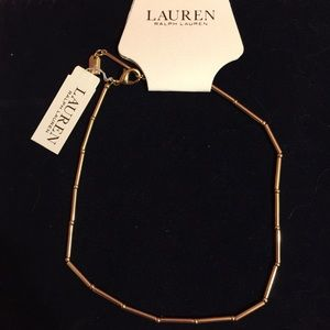 Ralph Lauren Gold link necklace NWT